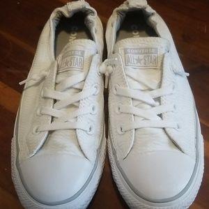 Converse White texured AllStars